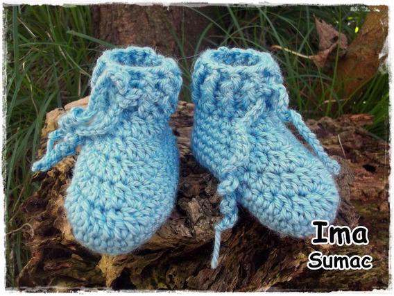 Escarpines Tejidos Al Crochet Artesanales