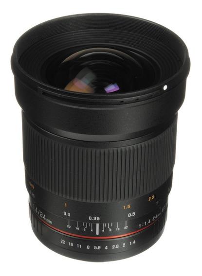 Samyang 24mm F/1.4 Ed As If Para Canon Grande Angular Cinema