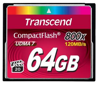 Cartão De Memória Compact Flash Cf Transcend 64gb 800x