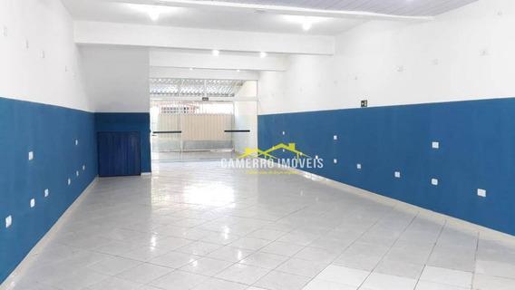Salão Para Alugar, 120 M² Por R$ 1.200,00/mês - Parque São Jerônimo - Americana/sp - Sl0333