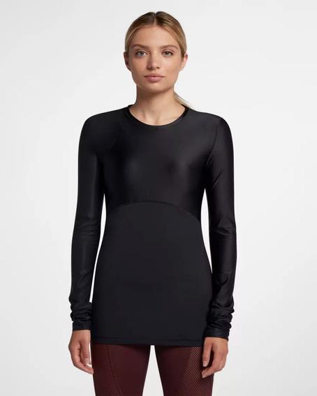 Blusa Camiseta Nike Pro Hypercool Manga Longa Preta G-932248