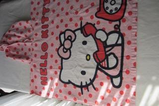 Toallón Poncho De Kitty Para Nena, Casi Nuevo!!, Impecable E