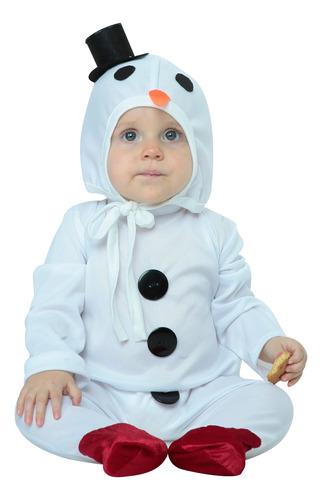 Imagen 1 de 1 de Disfraz De Navidad Snowman Muñeco De Nieve Bebé 6-12 Meses