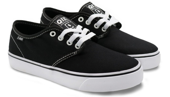 Tênis Qix Skate Nb Preto Black White Branco Feminino E Masculino Original Envio Imediato Promoção Frete Grátis