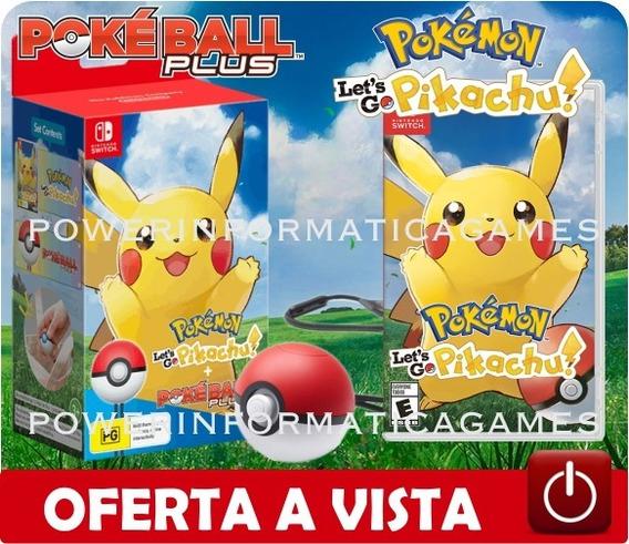 Bundle Pokemon Let´s Go Pikachu + Pokeball - Novo - Lacrado