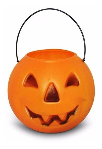 Halloween - Cesto Da Bruxa Balde Abóbora P/ Doces Guloseimas