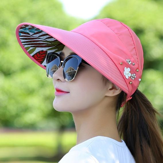 Sombrero Para Sol Dama Playa Primavera Verano Protección Uv