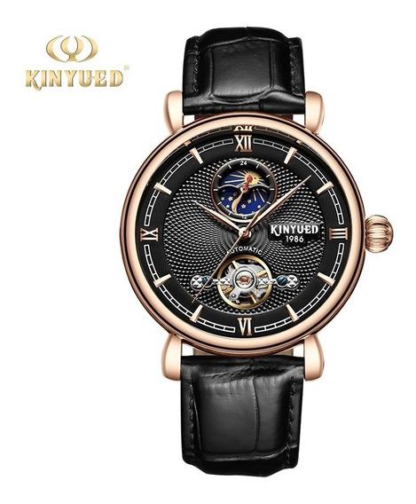 Reloj Para Hombre Automático Tourbillon Kinyued Negro J031