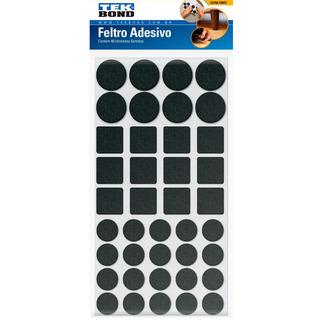 Feltro Protetor Adesivo Com Formatos Sortidos Preto 40 Un.