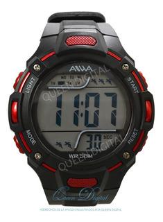 Reloj Hombre Sumergible Deportivo Alarma Con Cronometro Luz