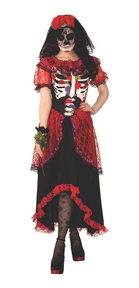 Disfraz Mujer Halloween Dia De Muertos Catrina Grande
