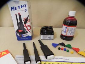 Kit Pincel 3 Metiq + (500 Ml ) 2 Tintas Vermelha + Preta