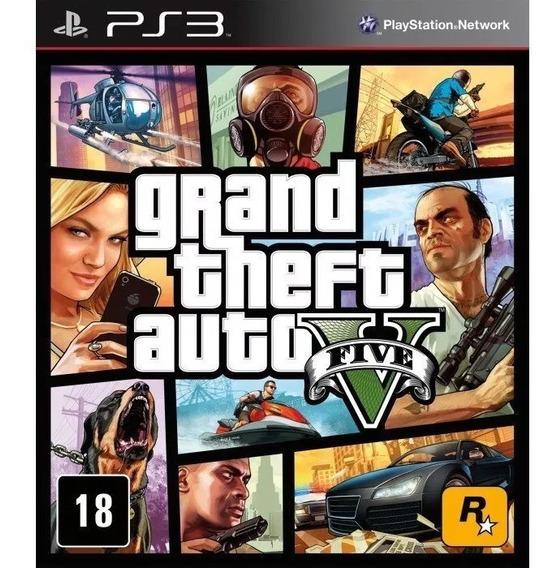 Jogo Grand Theft Auto V Gta 5 - Ps3 | Mídia Física | Lacrado