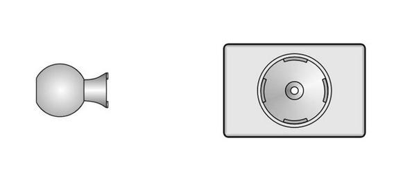 Base Y Rotula Sensor Movimiento Infrarrojo Alarma X28