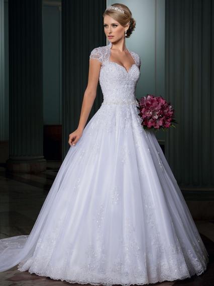 Vestido De Noiva Usado 1 Vez. Tam: 42 - 38.