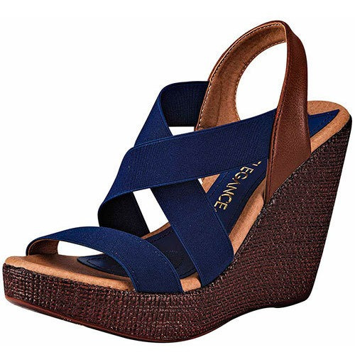 Huarache Playa Paulie Azul Tacon 11cm Ankle Mujer 18484ipd