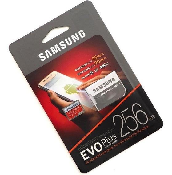 Cartão Samsung Micro Sd Evo Plus 256gb 100mbs U3 4k Lacrado