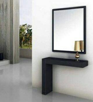 Consola Recibidor Sala Centro Moderno Con Espejo