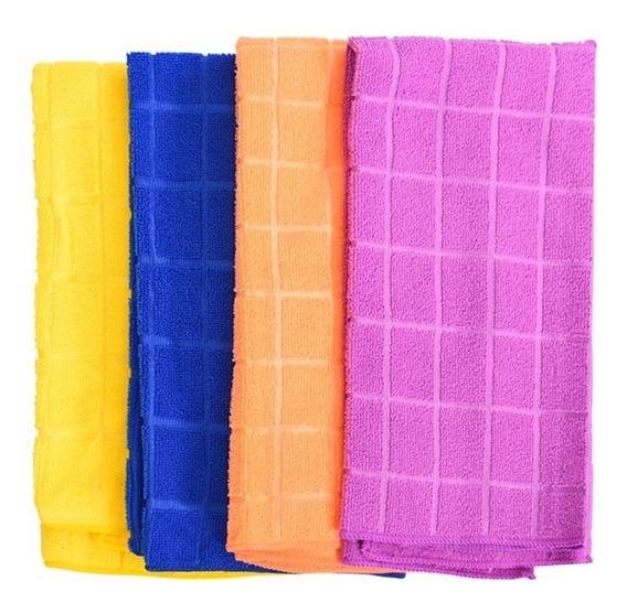 Pano Microfibra Polir Lavar Carro 49x68 Cm - Pacote 12 Un