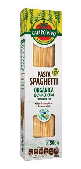 Pasta Spaghetti Orgánico Campo Vivo 500 Grs
