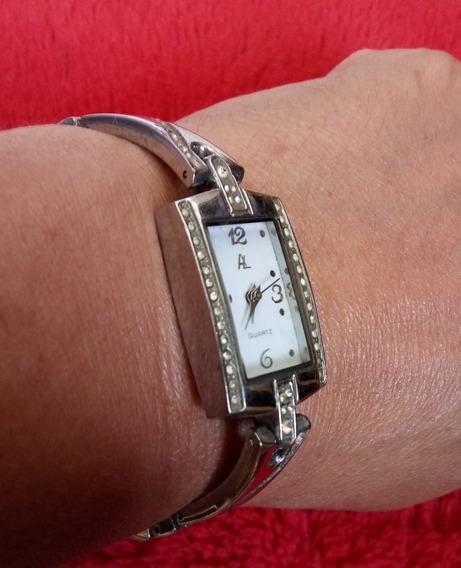 Relógio De Pulso Prateado Antigo