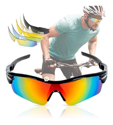 Gafas Deportivas Ciclismo 5 Lentes + Accesorios + Estuche