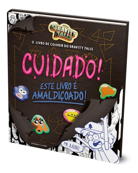 Livro Colorir Gravity Falls - Pronta Entrega - Capa Dura