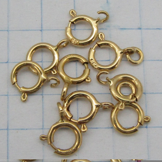 0120 Fecho Comum De Argola Ouro 18k 750 Rpw