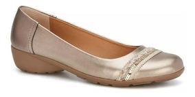 Confort Flat Flat Loafer Mujer Oro De Piel Andfrea 2539140