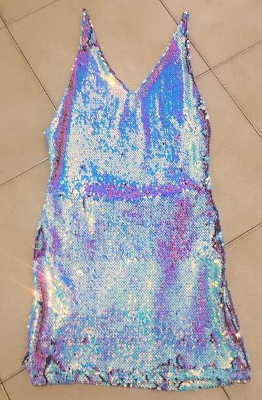 Vestido Mágico Lentejuelas Tornasolado Importado Forever 21