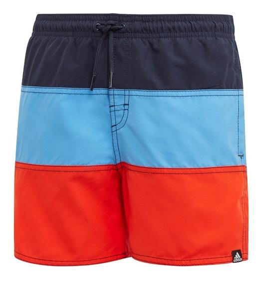Short De Baño adidas Colorblock Azu/cel/nar De Niños