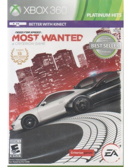 Need For Speed Most Wanted Xbox 360 Mídia Física Lacrado