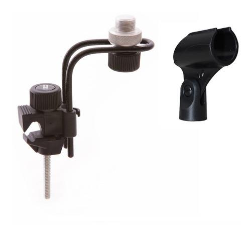 Suporte Clamp P/ Microfonar Bateria + Cachimbo B10 Ask