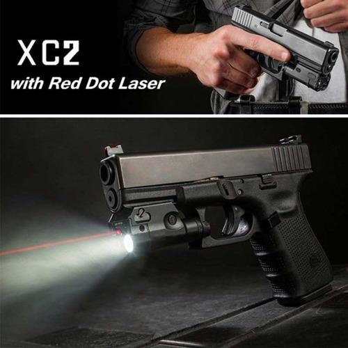 Mira Laser Vermelha Com Lanterna Trilho Picatinny Sotac Xc2