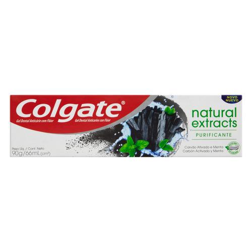 Pasta de dentes Colgate Natural Extracts Purificante Carvão Ativado Menta  em gel 90g
