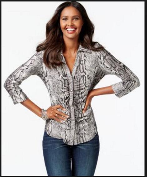 Blusa Social Feminina Camisa Botão Frente Pronta Importada P