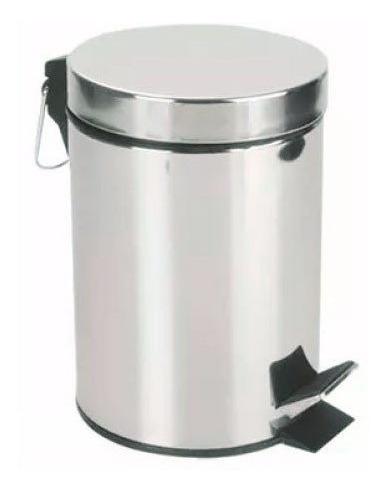 Cesto De Residuos A Pedal 5 Litros Acero Inox Cocina / Baño
