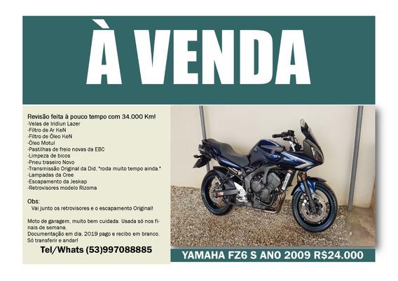 Yamaha Fz6 S 2009 ( Fazer 600s )