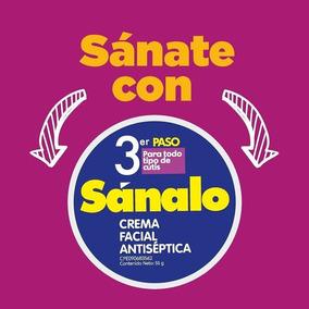 Crema Facial Antiséptica Sanalo 3er Paso Cualquier Cutis 30g