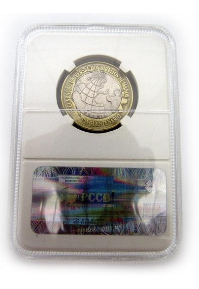 Moeda Comemorativa Direitos Humanos 1998 Mbc No Coin Slab