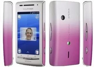 Sony Ericsson Xperia X8 E15a Branco/rosa Original Vitrine