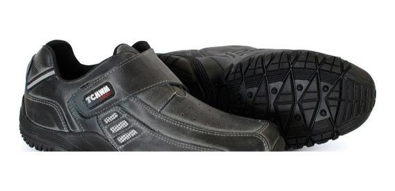 Sapatênis Sapato Leve Masculino 100% Couro Bovino 36 Ao 48