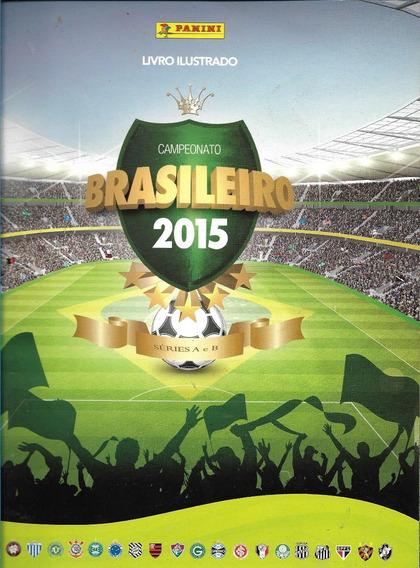 Álbum Do Campeonato Brasileiro 2015 C/ 20 Figurinhas Coladas