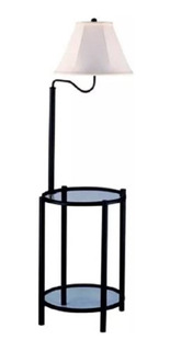 Lampara Piso Mesa Mainstays Floor Lamp With Table Black Mate
