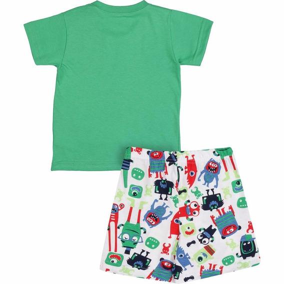 Pijama Infantil Camiseta E Bermuda - Malwee