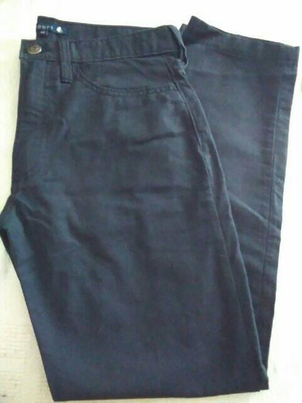 Pantalon Mujer Gabardina Azul Marino T 42 Newport