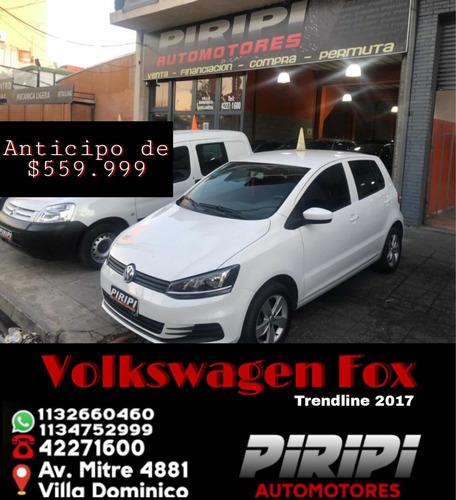 Imagen 1 de 13 de Volkswagen Fox 1.6 Comfortline 2017, $599.999 Y Cuotas