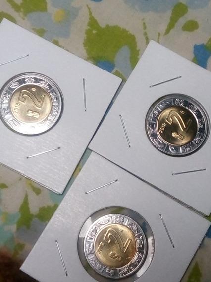 Moneda De 2 Pesos Poca Circulaciin