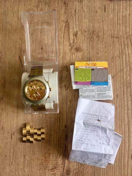 Relógio Swatch Full Dourado