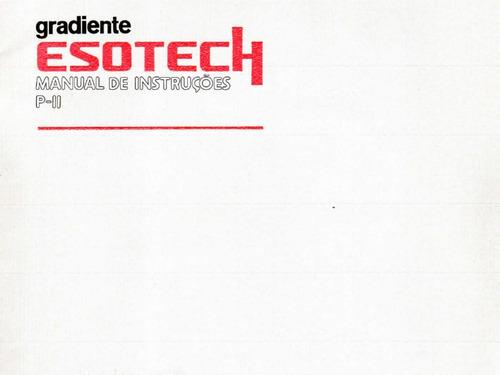 Manual Em Pdf Gradiente Esotech Pii Pré Amplificador